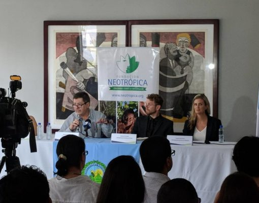 Press conference and preliminary results presentation, May 2018 at the School of Geography in University of Costa Rica.