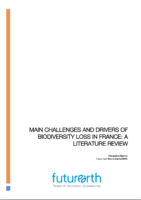Cover - Main challenges and drivers of biodiversity loss in France: a literature review