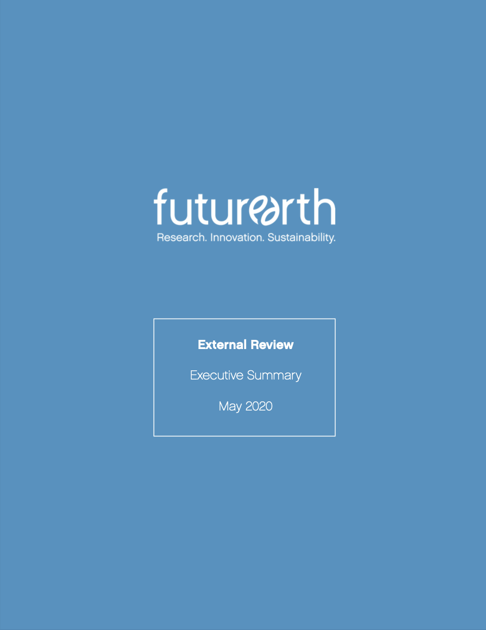 Future Earth External Review Executive Summary cover image
